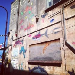 sea creatures street art project