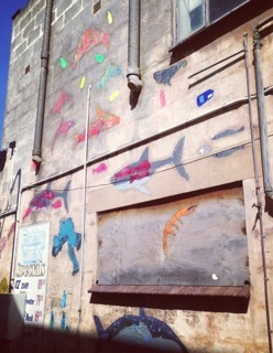 sea creatures street art project